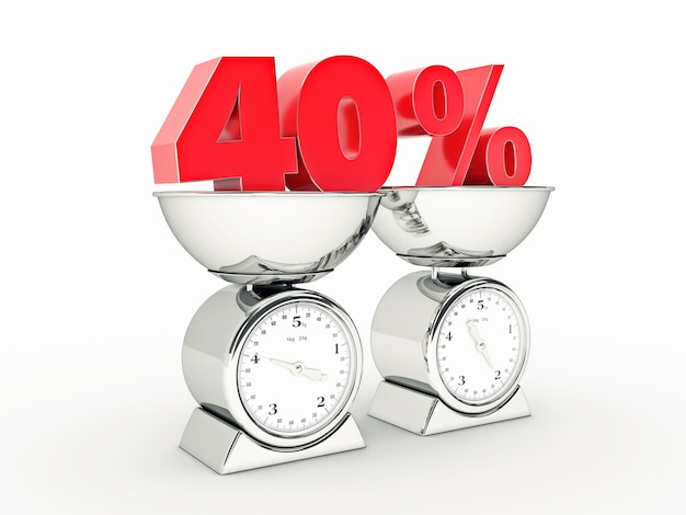 Rendering 3d z 40-procentową zniżką