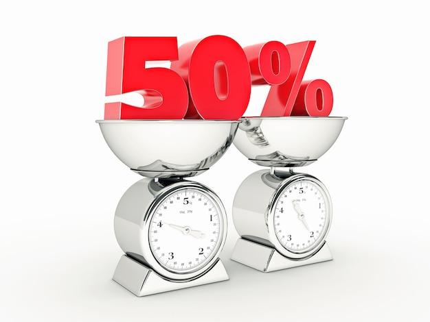 Rendering 3d z 50-procentową zniżką