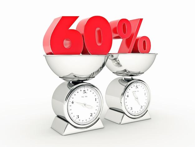 Rendering 3d z 60-procentową zniżką