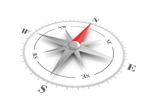 Rendering illustraton of compass