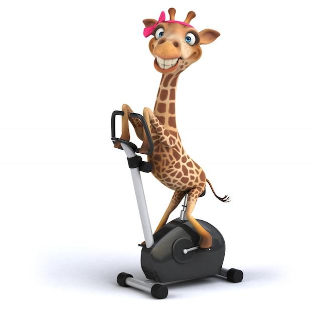 Renderingu 3d śmieszna żyrafa
