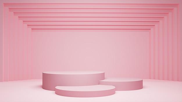Renderowane 3d. postument do wystawienia, postumentu lub platformy