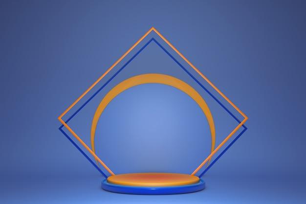 Renderowania 3d, abstrakcyjne niebieskie tło