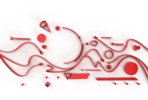 Renderowania 3d abstrakcyjne tło z miejsca tekstu. cyfrowy ilustracja 3d design.