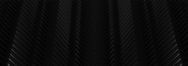Renderowania 3d czarne tło abstrakcyjna.