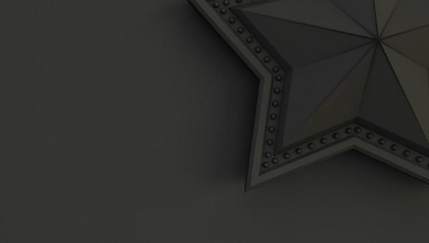 Renderowania 3d gwiazdy na białym tle na czarnym tle.