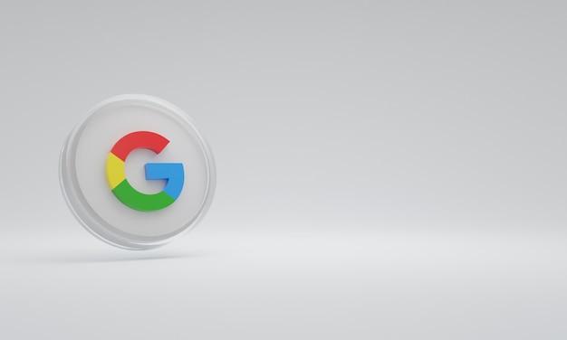 Renderowania 3d ikona ilustracja logo szkło google