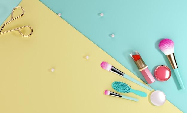 Renderowania 3d koncepcji salonu piękności na wystawie produktu