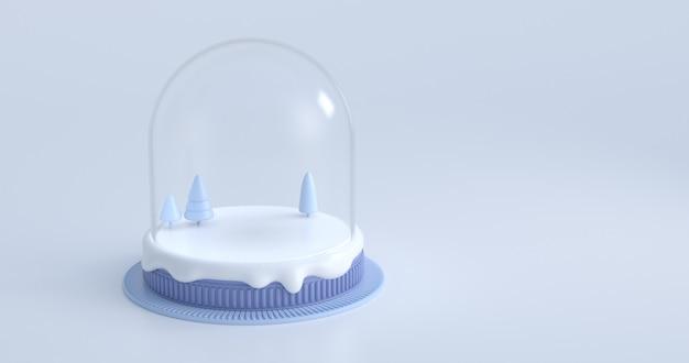 Renderowania 3d kuli ziemskiej śniegu.