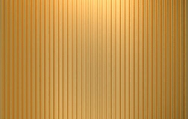 Renderowania 3d. luksusowe pionowe złote pręty panelowe wzór tekstury ściany.