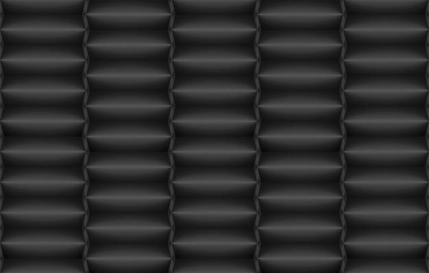 Renderowania 3d. nowoczesne ciemne poziome długie kostki pole stos wierszy ściany tło.