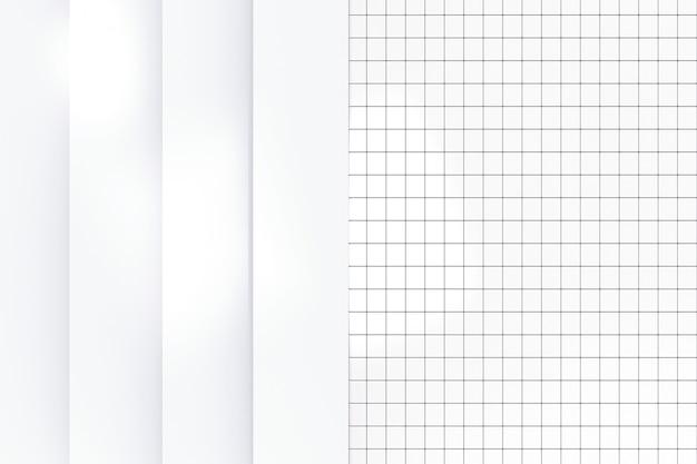Renderowania 3d. nowoczesne proste białe pionowe płyty panelu na tle ściany małych płytek ceramicznych.