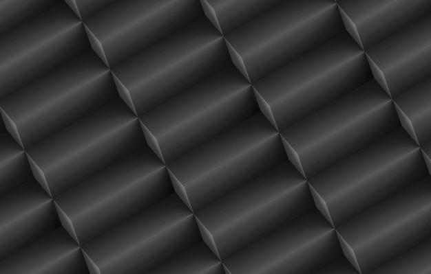 Renderowania 3d. nowoczesne ukośne ciemne długie kostki pole stos wierszy ściany tło.