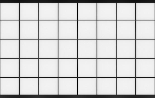 Renderowania 3d. nowoczesny papier orientalny wzór kwadratowy kształt drzwi sztuki ściany.