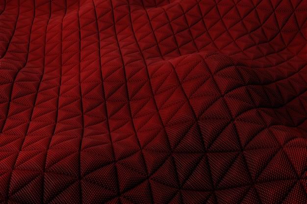 Renderowania 3d plastikowe tło z odbiciami. powierzchnia przemieszczenia. z falistego kształtu wytłoczone losowe wzory.