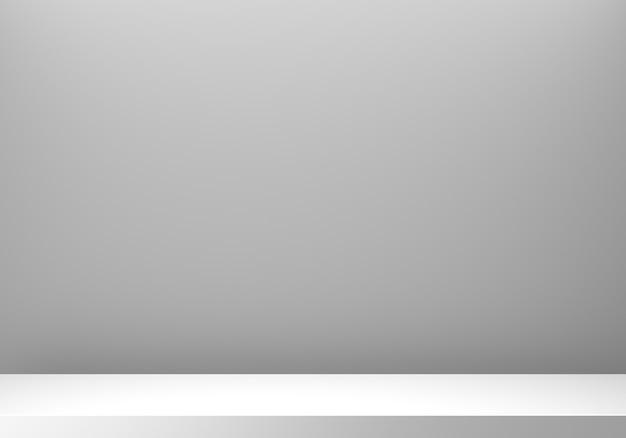 Renderowania 3d puste szare podium streszczenie minimalne tło.