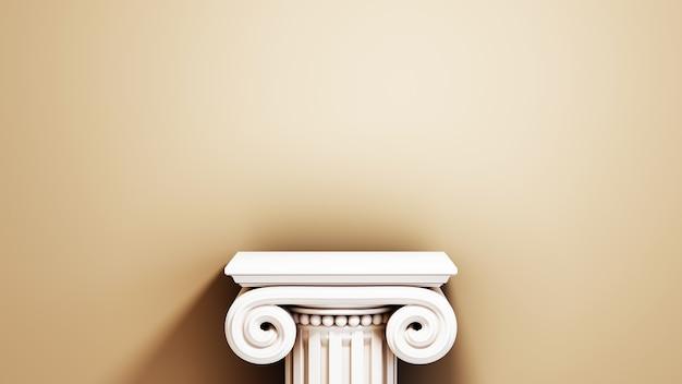 Renderowania 3d puste tło produktu dla tła mody i dekoracji kosmetyków kremowych. nowoczesne puste tło podium dla luksusowego produktu.