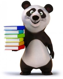 Renderowania 3d śmieszne miś panda