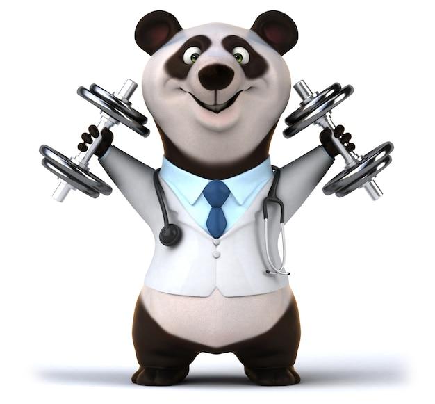Renderowania 3d śmieszne niedźwiedzia