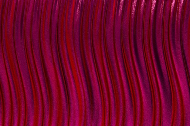 Renderowania 3d, streszczenie czerwonym tle luksusowe tkaniny