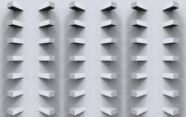 Renderowania 3d. streszczenie szary cement kwadratowy panel sztuka wzór ściana tło.