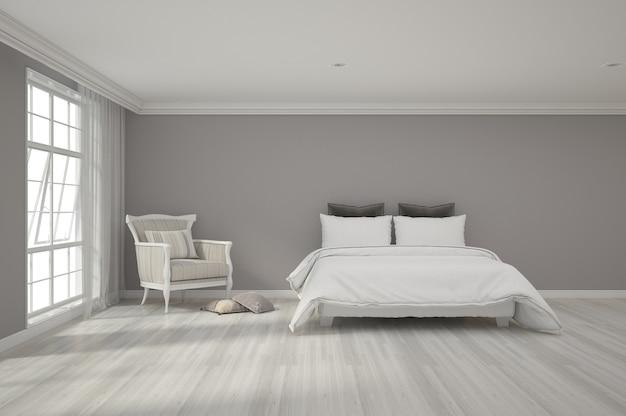 Renderowania 3d sypialni