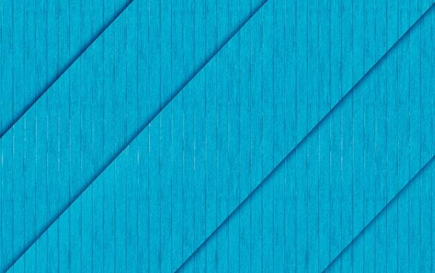 Renderowania 3d. ukośne niebieskie panele drewniane tekstury ogrodzenia ściany projekt tło.