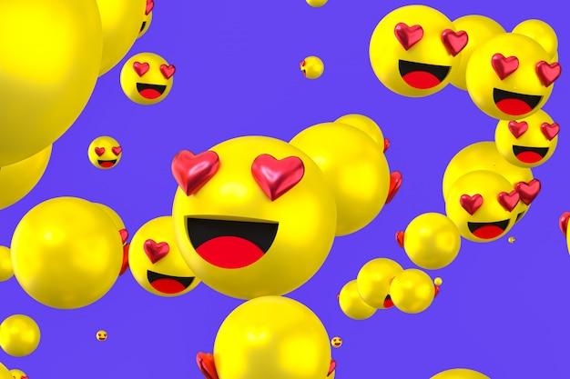 Renderowania 3d w miłości emoji