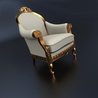 Renderowania 3d z rocznika ozdobny fotel