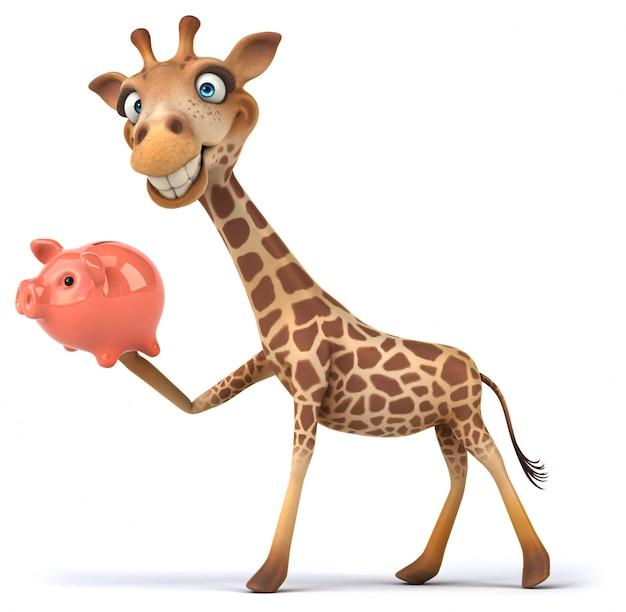 Renderowania 3d żyrafa