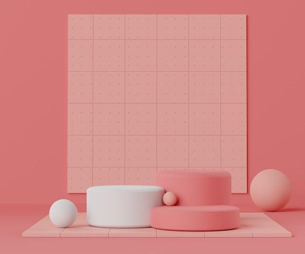 Renderowania sceny mody geometryczne podium dla produktu