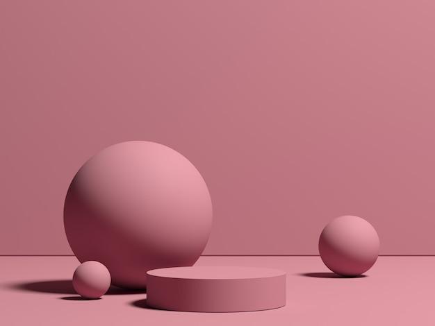 Renderowanie 3d abstrakcyjnej kompozycji do prezentacji produktu