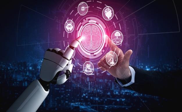 Renderowanie 3d badania sztucznej inteligencji ai robota