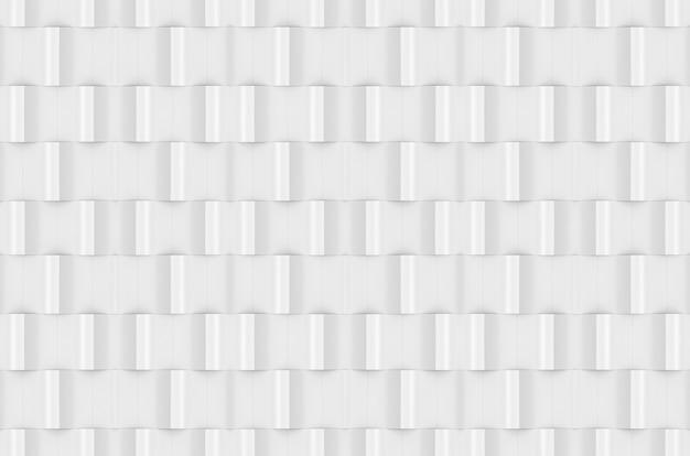 Renderowanie 3d. bezszwowe nowoczesny biały sqaure ceglany wzór ściany tekstura tło.