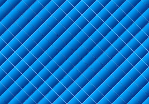 Renderowanie 3d. bezszwowe nowoczesny gradientowy niebieski kolor kwadratowej siatki wzór projektowania ściany sztuka tło.