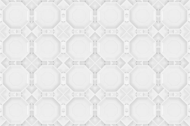 Renderowanie 3d. bezszwowe nowoczesny szary sześciokątny wzór wzór płytki ścienne tekstura tło.