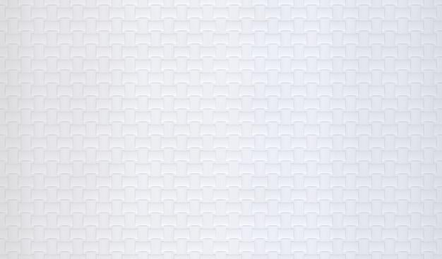 Renderowanie 3d. biała krata wzór powierzchni materiał tekstura ściana backgorund.