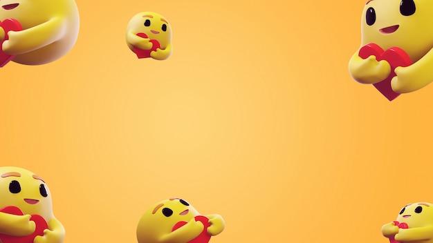 Renderowanie 3d care emoji