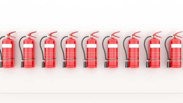 Renderowanie 3d czerwonej gaśnicy