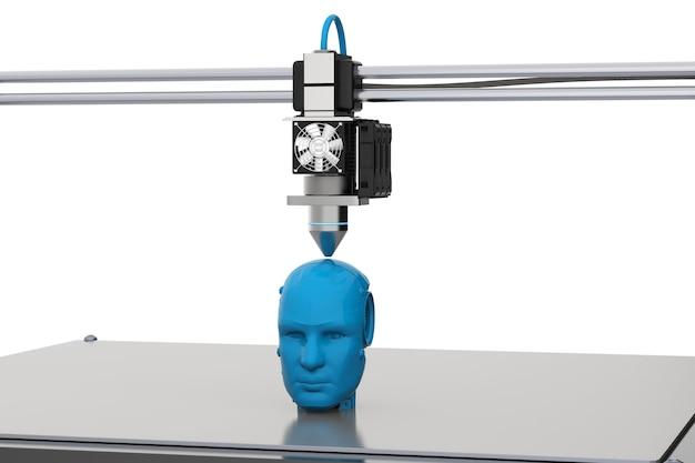 Renderowanie 3d drukarki 3d model robota
