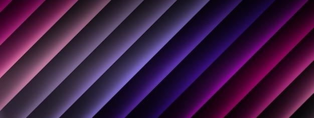 Renderowanie 3d fioletowych i różowych linii, tło elementów geometrycznych