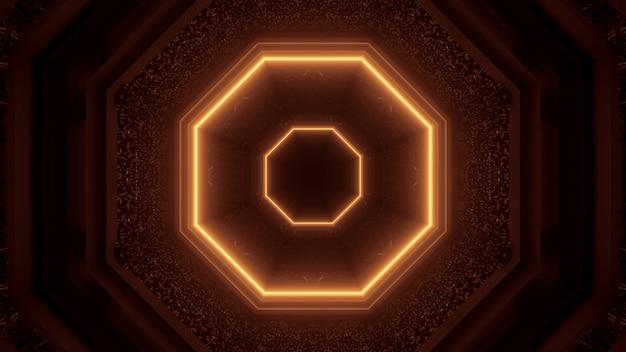 Renderowanie 3d futurystyczne sci-fi techno światła - fajne tło