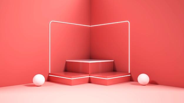 Renderowanie 3d geometrycznych podium