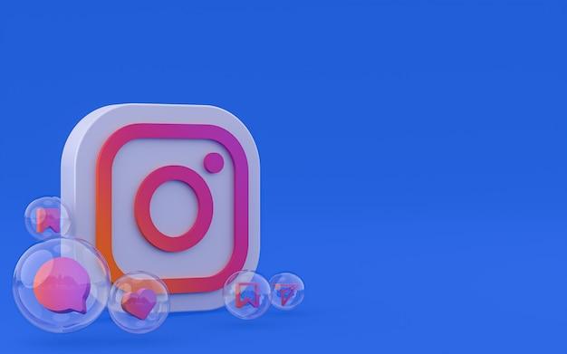 Renderowanie 3d ikon na instagramie