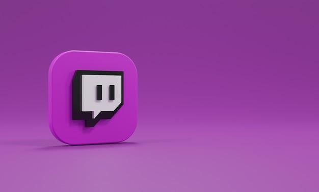 Renderowanie 3d ikona logo realistyczne drganie