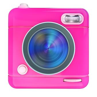 Renderowanie 3d ikony aparatu fotograficznego