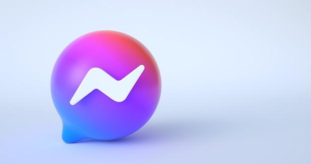 Renderowanie 3d ikony facebook messenger.