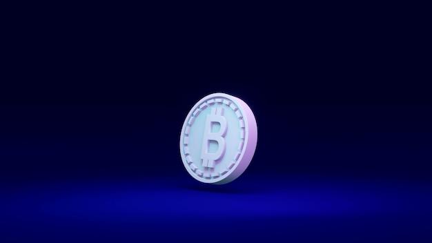 Renderowanie 3d izolowanej monety jako odniesienie do łańcucha bloków w tle