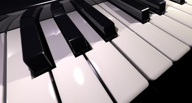 Renderowanie 3d klawiatury fortepianu