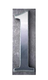 Renderowanie 3d litera l metalicznym drukiem maszynowym